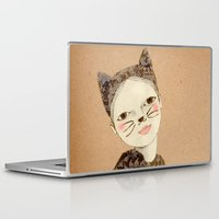 kiki Laptop & iPad Skins featuring Kiki Kitty by Irena Sophia