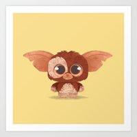 gizmo Art Prints featuring Gizmo by Ponchoart