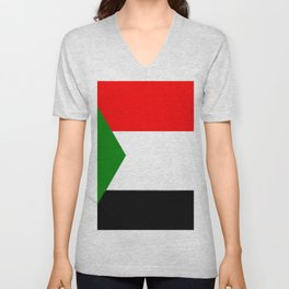 flag of sudan 2 -sudan,السودان ,sudanese,nubia,khartoum,omdurman Unisex V-Neck