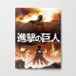 Shingeki No Kyojin Attack On Titan Metal Print