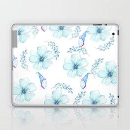 Renaissance Magic Gnome Blue Flowers Laptop & iPad Skin