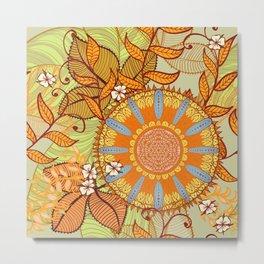 Hand Drawn Floral & Mandala 08 Metal Print