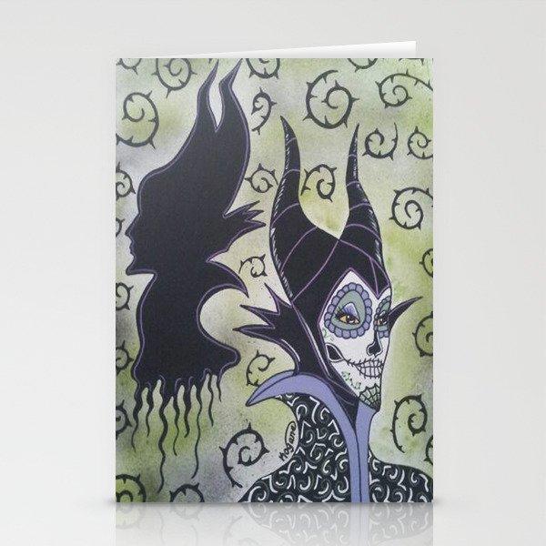 Maleficent Sugar Skull Stationery Cards