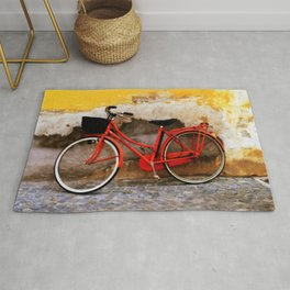 The Red Bicycle Rug