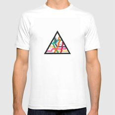 Lonely Triangle MEDIUM White Mens Fitted Tee