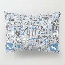 All my circuits in a pattern Pillow Sham