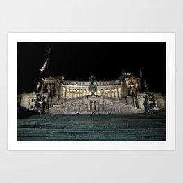 Roma, Altare della patria. Art Print