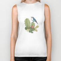 cactus Biker Tanks featuring Cactus by Edurne Lacunza