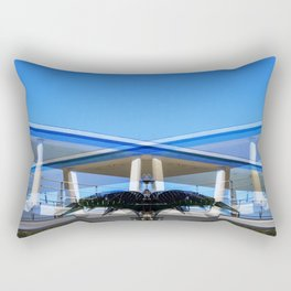 Metallic Palm Rectangular Pillow