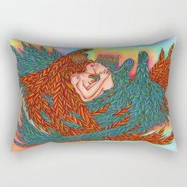 Rainbow Prince And Princess Angels Rectangular Pillow