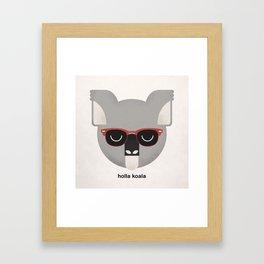 Holla Koala Framed Art Print