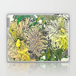 With Flowers Laptop & iPad Skin