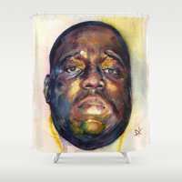 biggie smalls Shower Curtains featuring Biggie  by Kyle Miller