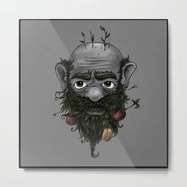 Veggie Beard Metal Print