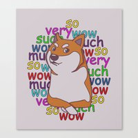 doge Canvas Prints featuring Doge  by Corinna Schlachter