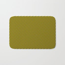 Baby Sharkstooth Sharks Pattern Repeat in Black and Yellow Bath Mat