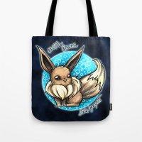 eevee Tote Bags featuring 133- Eevee by Lyxy