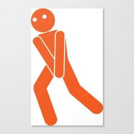 Toilet sign Canvas Print