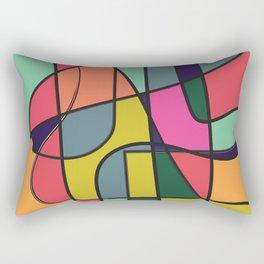 The flow#2 color block minimalist modern art Rectangular Pillow