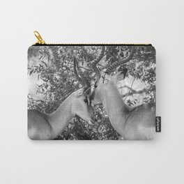 Gazelle (Black and White) Carry-All Pouch