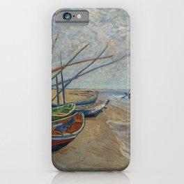 Vincent van Gogh - Fishing Boats on the Beach at Les Saintes-Maries-de-la-Mer iPhone Case