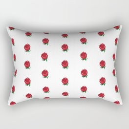 Beautiful Protea Polka Dot Pattern Rectangular Pillow