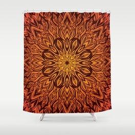 Fire Spirit Mandala Art Shower Curtain