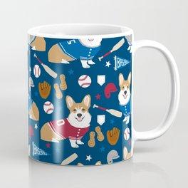 Corgi baseball themes sports dog fabric welsh corgis dog breeds gifts Coffee Mug