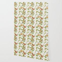 Magnolia/ Birds Wallpaper