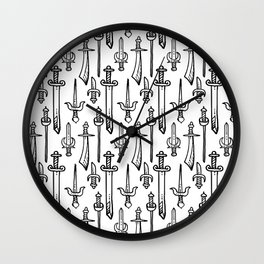 Swords & Daggers Pattern Wall Clock