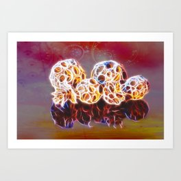 Balls and Cones  Abstract Art Print