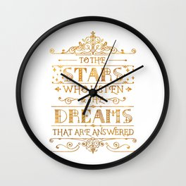 To the Stars - White Wall Clock