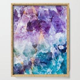 Multicolor quartz texture Serving Tray