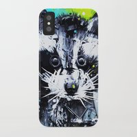 raccoon iPhone & iPod Cases featuring RACCOON by Maioriz Home