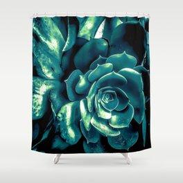 green succulent plant texture background Shower Curtain