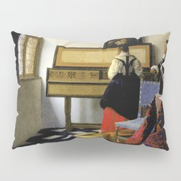 Johannes Vermeer - Lady at the Virginal with a Gentleman, 'The Music Lesson' Pillow Sham