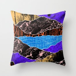 Textured lands Throw Pillow