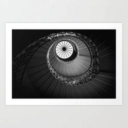 Tulip Staircase, Queen's House Art Print