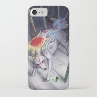 okami iPhone & iPod Cases featuring Okami by Caroline Roy
