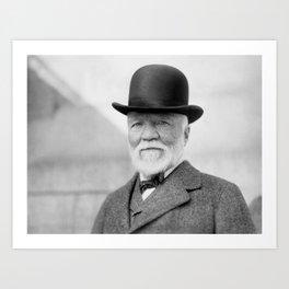 Andrew Carnegie Portrait - 1913 Art Print