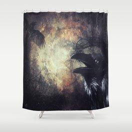 Huginn ok Muninn Shower Curtain