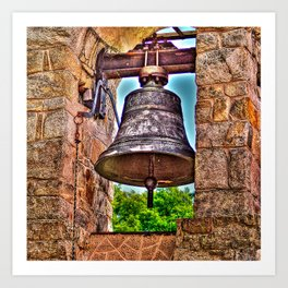 The Bell Tower Antique Stone Arches Art Print