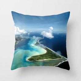 Bora Bora: South Pacific Paradise Throw Pillow
