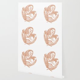 Demeter Goddess of Harvest Mono Line Wallpaper