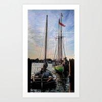 Inlet Masts Art Print