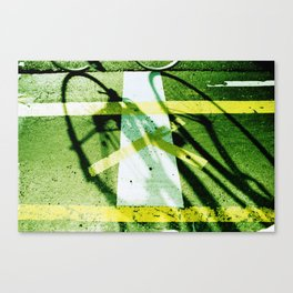 road paintings (cross cycling) Canvas Print