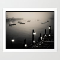 ships Art Prints featuring ships by Adventures of DD