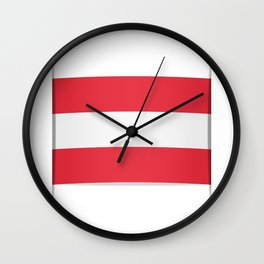 Flag of Austria. The slit in the paper with shadows.  Wall Clock