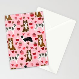 Border Collie valentines day cupcakes heart love dog breed collies gifts Stationery Cards