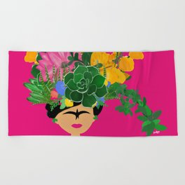 Keep Blooming Friducha Beach Towel